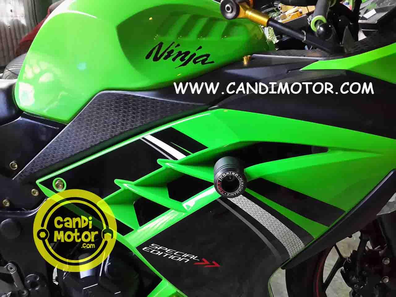 FRAME SLIDER PELINDUNG FAIRING NINJA 250 FI Z250 AGNA CANDI MOTOR 1 ...