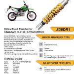 Rear Shock / Sok Belakang KLX150 - Ohlins - Rear Shock / Sok Belakang KLX150 - Ohlins - Rear Shock / Sok Belakang KLX150 - Ohlins - Rear Shock / Sok Belakang KLX150 - Ohlins