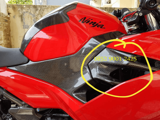 Cover Sirip Body Samping New Ninja 250 FI 2018 Carbon Kevlar