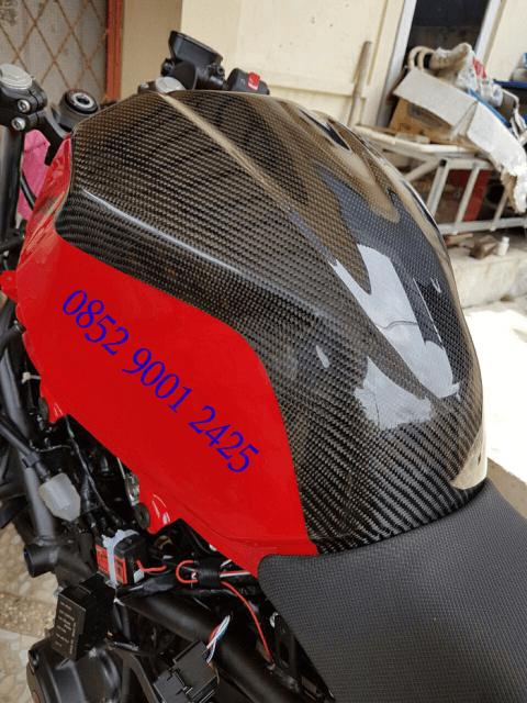 Half Tank Pad Carbon New Ninja 250 FI 2018
