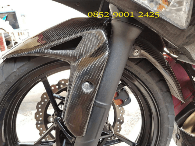 Spakbor Depan New Ninja 250 FI 2018 Carbon Kevlar
