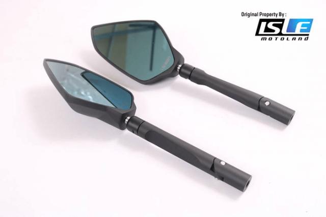 Spion Lightech Universal Black Alumunium