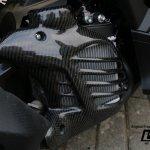 Cover Tutup Radiator Yamaha Aerox 155 Lapis Karbon Carbon Kevlar