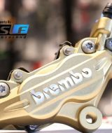 Kaliper Depan Brembo 4 piston 2 pin Gold