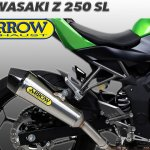 Knalpot Ninja 250 RR Mono Z250 SL Arrow X Cone Slip On