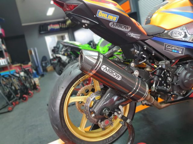 Knalpot Ninja 250 New Arrow Italy Carbon Race Tech