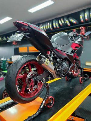 Knalpot Ninja 250 New Arrow Italy Competition Full Titanium