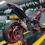 Knalpot Ninja 250 New Arrow Italy Competition Semi Titanium