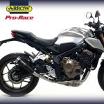 Knalpot CB650 New Arrow Pro Race Black Ori Italia