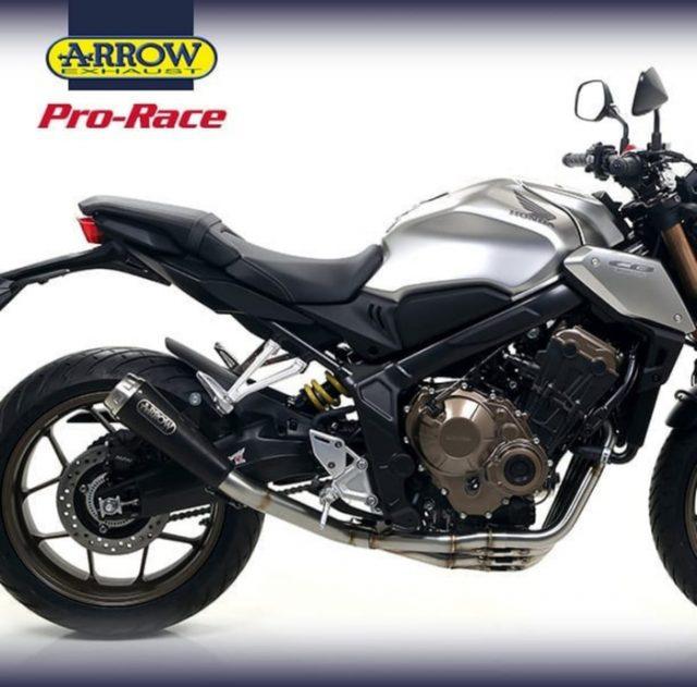 Knalpot CB650 New Arrow Pro Race Black Ori Italia