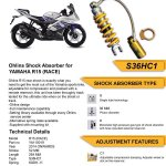 Rear Shock / Sok Belakang R15 - Ohlins