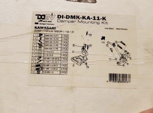 DMV Steering Damper Tracer Ohlins Bracket Kawasaki Ninja 650 & ER6F & ER6 - DMV Steering Damper Tracer Ohlins Bracket Kawasaki Ninja 650 & ER6F & ER6 - DMV Steering Damper Tracer Ohlins Bracket Kawasaki Ninja 650 & ER6F & ER6 - DMV Steering Damper Tracer Ohlins Bracket Kawasaki Ninja 650 & ER6F & ER6